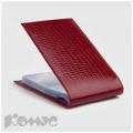 Визитница карманная Askent Ящерица (на40визиток, натур. кожа, красный)