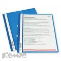 Папка-скоросшиватель Durable (А4, синий, ушки)