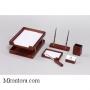 Настольный деревянный набор, 6 предметов, красное дерево_темный, Good Sunrise M6B-35A