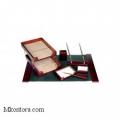 Настольный деревянный набор, 7 предметов, красное дерево_темный, Good Sunrise M7D-35A