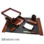 Настольный деревянный набор, 7 предметов, орех_натуральный, Good Sunrise T7D-35A