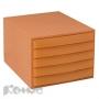 Бокс с выдвижными лотками закрытый EXACOMPTA 222852D, оранж. 5отд. Австрия