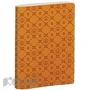 Бизнес-тетрадь  Lege Artis  16х21см 192стр.фактурн кожзам,клетка,оранж