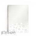 Бизнес-тетрадь LEITZ BeBop белая А4, 80л, клетка, пластик