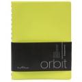 Ежедневник полудатированный Orbit, А5, поулзакрытый гребень, белый блок, серебряный обрез, без ляссе, Happy Book