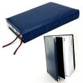 Ежедневник полудатированный Boss, белый блок блок, серебряный обрез, ляссе, карта, Happy Book
