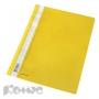 Папка скоросшиватель Комус А4 с перфорацией желтый