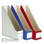 Вертикальный накопитель Комус сборный: синий, красный, белый (100мм, гофрокартон, 3шт./уп.)