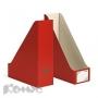 Вертикальный накопитель Комус красный, сборный (100мм, гофрокартон, 2шт./уп.)