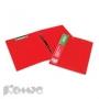 Папка скоросшиватель с пружинным механизмом + зажим ATTACHE красный