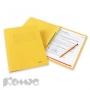 Папка скоросшиватель Bantex А4 желтый картонный
