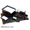 Настольный деревянный набор МДФ, 8 предметов, черное дерево, Good Sunrise 8FE-1A