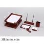 Настольный деревянный набор, 6 предметов, дуб_светлый, Good Sunrise K6B-35A