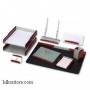 Настольный деревянный набор, 8 предметов, красное дерево_зеленые элементы, Good Sunrise LG_RS8AC-1A