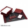 Настольный деревянный набор, 6 предметов, красное дерево_темный, Good Sunrise M6C-7A