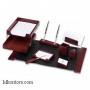 Настольный деревянный набор, 9 предметов, красное дерево_темный, Good Sunrise M9D-1