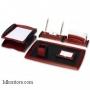 Настольный деревянный набор, 6 предметов, красное дерево_черный, Good Sunrise RS6M-1A