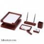Настольный деревянный набор, 6 предметов, орех_темный, Good Sunrise W6B-35A