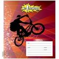 Тетрадь 1School Воздушный велосипедист (18л, лин, А5, скрепка, лак)