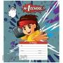 Тетрадь 1School Мальчик-аниме (24л, линейка, скрепка, А5)