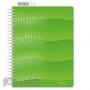 Бизнес-тетрадь WAVES А5 100л. ATTACHE клет,спир,пласт,заклад,цв.зеленый