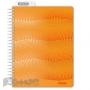 Бизнес-тетрадь WAVES А5 100л. ATTACHE клет,спир,пласт,заклад,цв.оранжевый