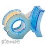 Диспенсер Kores Fish (19х10мм, прозр. лента, цвет: синий, зеленый)