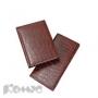 Визитница Br.V.Croco на 84 визитки (коричневый, 125х203мм)