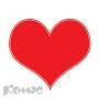 Дырокол Сердце (одинарный, d=16мм, вблистере)